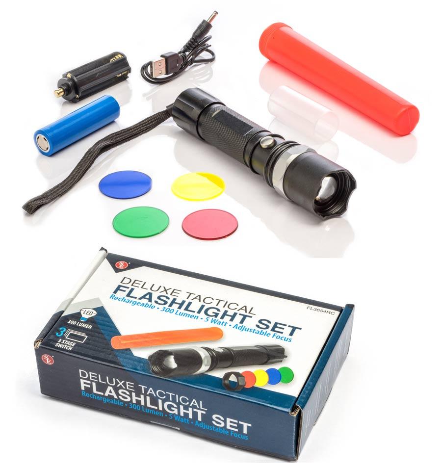 Gift Idea 3 Watt Cree XPE LED Rechargeable Zoom Flashlight 120 Lumens US Seller