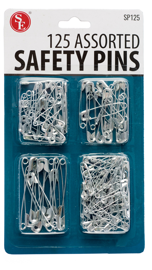 500 Pc Safety Pins Set Size 0-4 Sewing Tailoring Survival Packs 4 packs of 125pc
